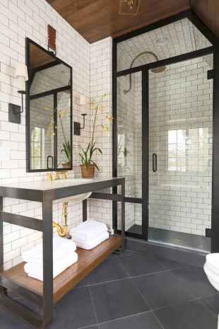 80 Awesome Farmhouse Master Bathroom Decor Ideas And Remodel (19)