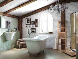 80 Awesome Farmhouse Master Bathroom Decor Ideas And Remodel (21)