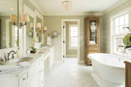 80 Awesome Farmhouse Master Bathroom Decor Ideas And Remodel (41)