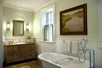 80 Awesome Farmhouse Master Bathroom Decor Ideas And Remodel (65)