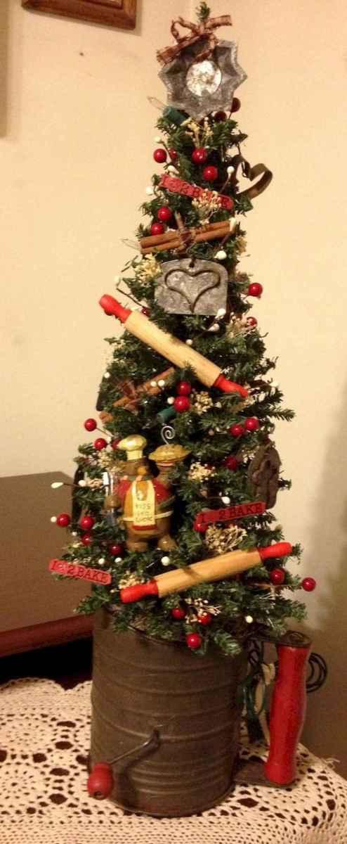 30 Rustic And Vintage Christmas Tree Decor Ideas (9)