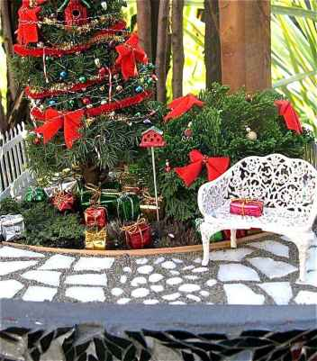 45 Beautiful Christmas Fairy Garden Decor Ideas (35)