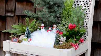 45 Beautiful Christmas Fairy Garden Decor Ideas (37)