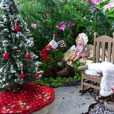 45 Beautiful Christmas Fairy Garden Decor Ideas (44)
