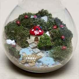 45 Beautiful Christmas Fairy Garden Decor Ideas (9)