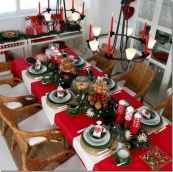 50 Stunning Christmas Table Dining Rooms Decor Ideas (16)