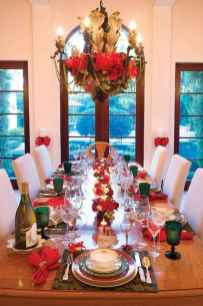 50 Stunning Christmas Table Dining Rooms Decor Ideas (17)