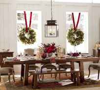 50 Stunning Christmas Table Dining Rooms Decor Ideas (34)