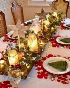 50 Stunning Christmas Table Dining Rooms Decor Ideas (42)