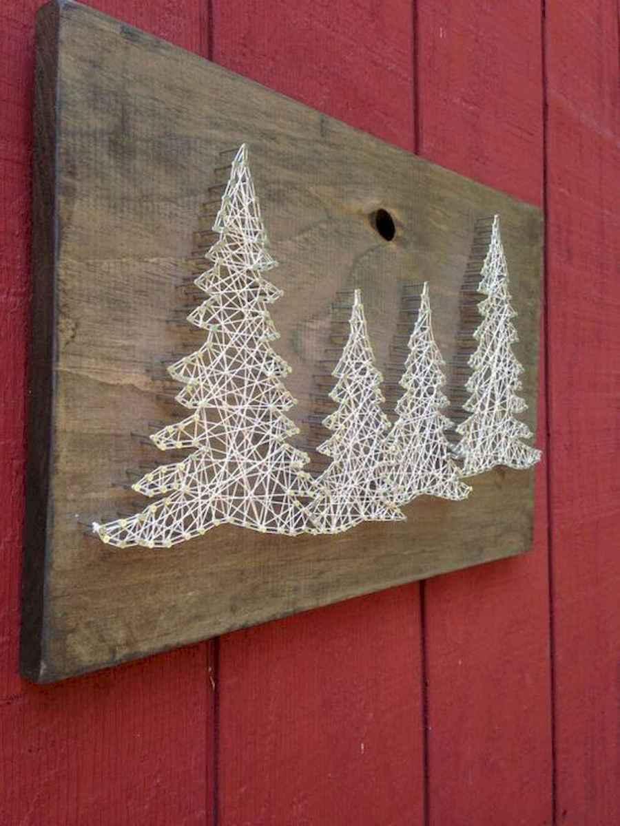60 Awesome Wall Art Christmas Decor Ideas (37)
