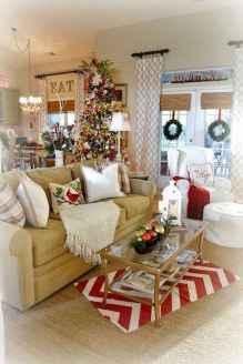 60 Simple Living Room Christmas Decor Ideas (30)