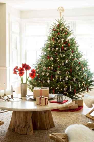 60 Simple Living Room Christmas Decor Ideas (50)
