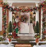 50 Christmas Front Porch Decor Ideas And Makeover (26)