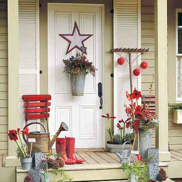 50 Christmas Front Porch Decor Ideas And Makeover (30)