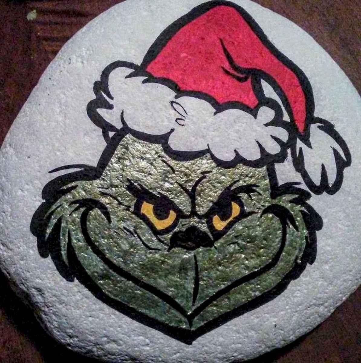 50 Easy DIY Christmas Painted Rock Design Ideas (10)