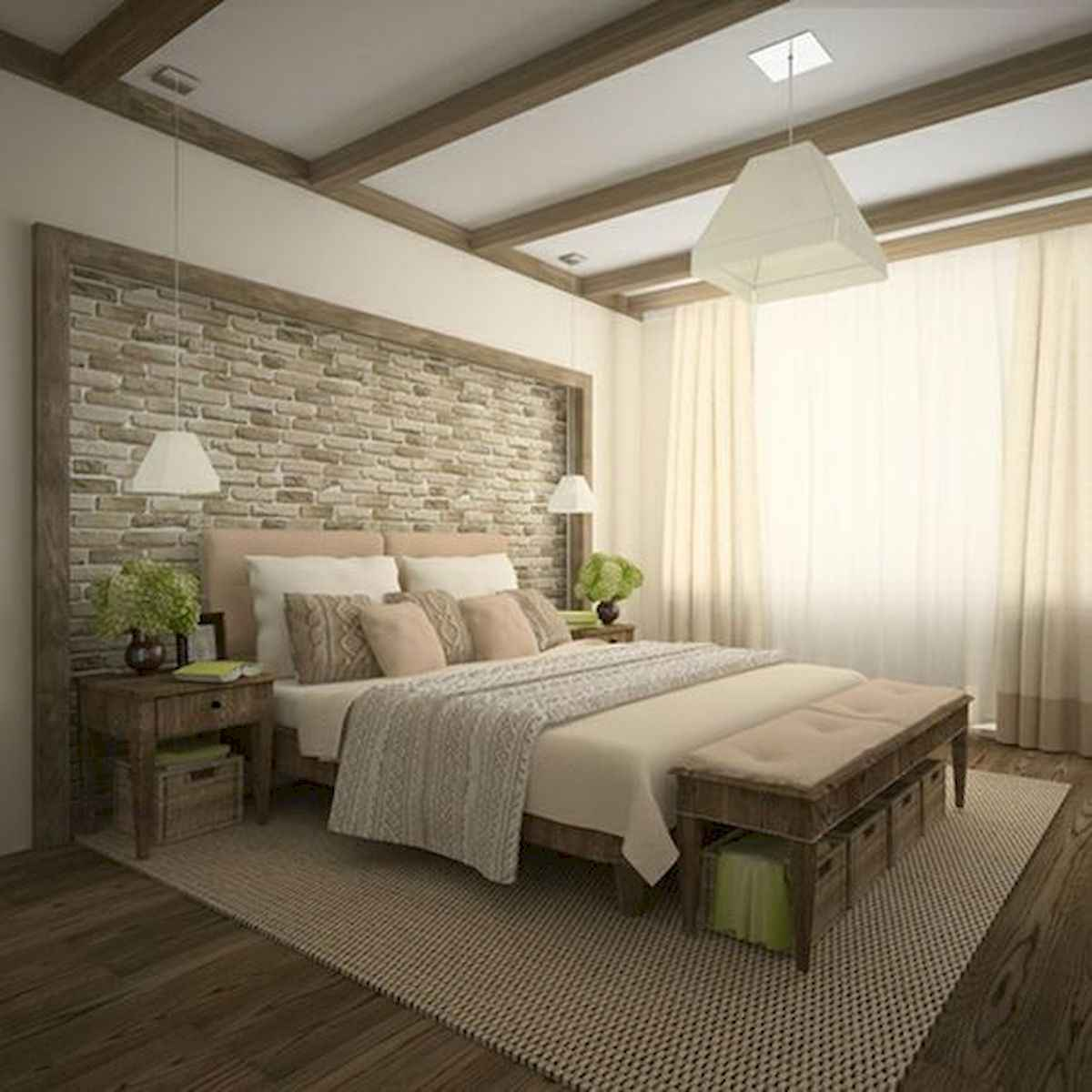 120 Awesome Farmhouse Master Bedroom Decor Ideas (4)