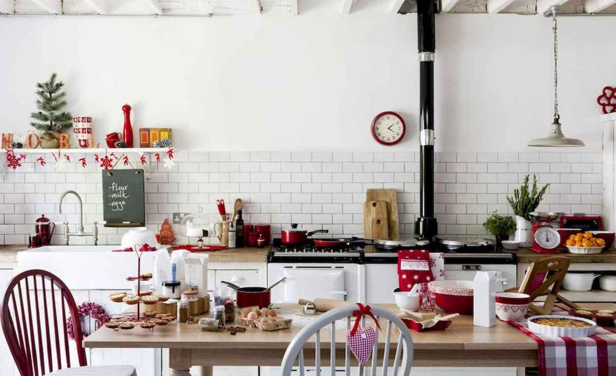 20 Elegant Christmas Kitchen Decor Ideas And Makeover (10)