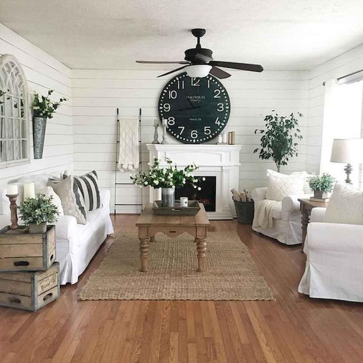 30 Stunning Farmhouse Living Room Decor Ideas (15)