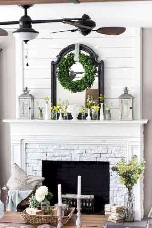 40 Awesome Fireplace Makeover For Farmhouse Home Decor (38)