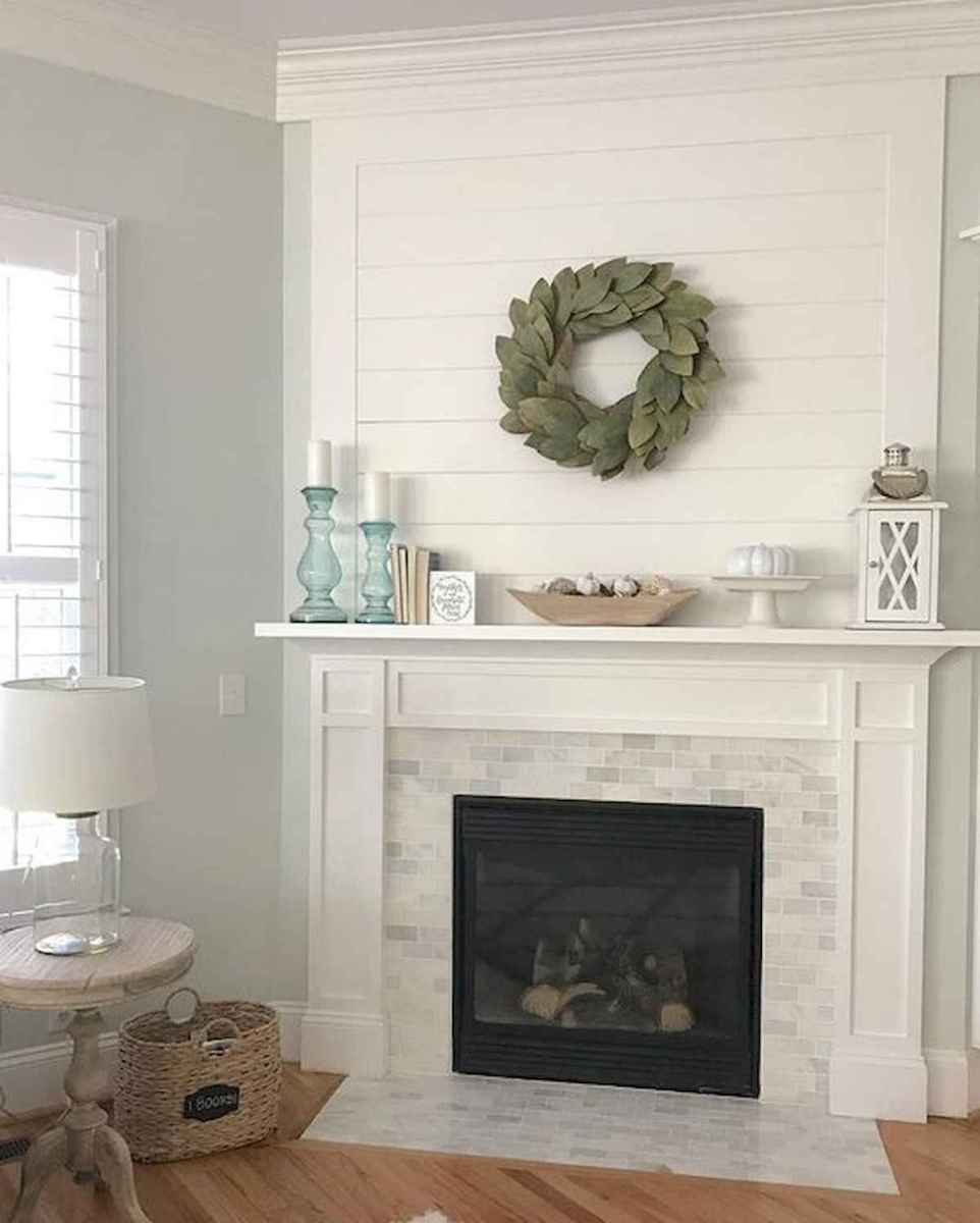 40 Awesome Fireplace Makeover For Farmhouse Home Decor (4)