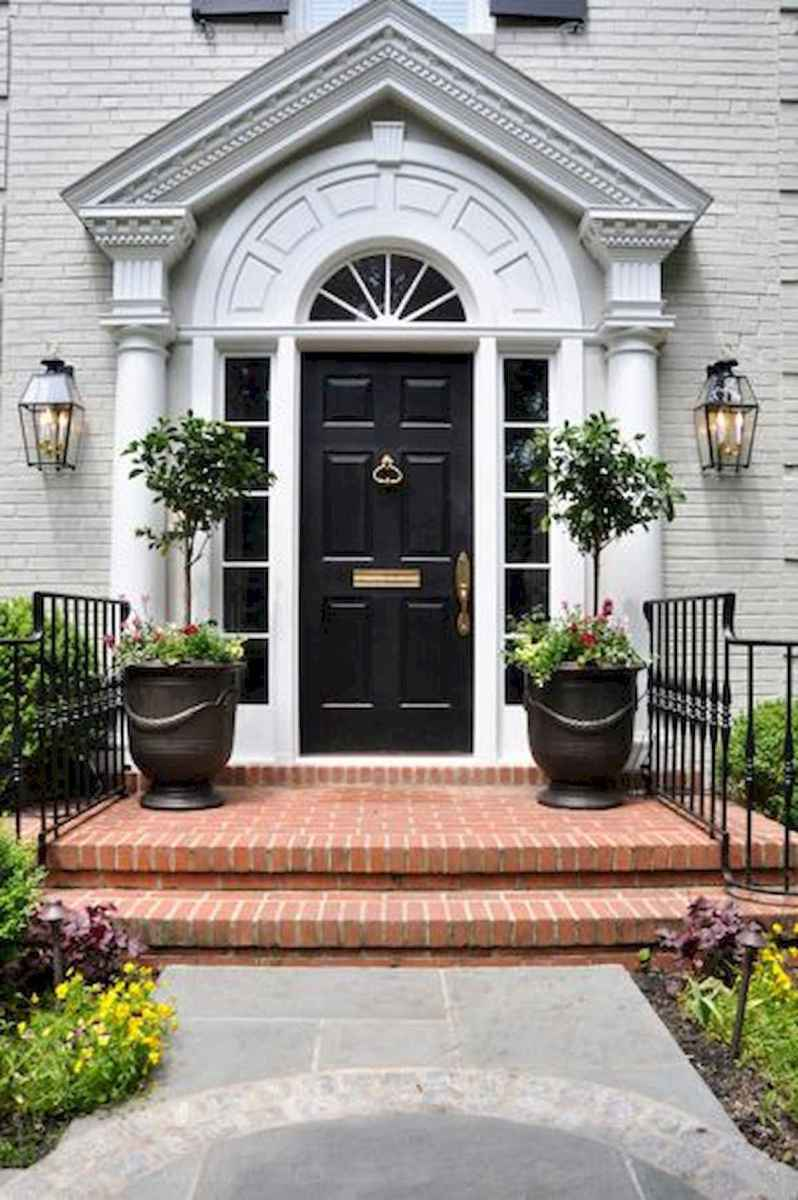 70 Best Modern Farmhouse Front Door Entrance Design Ideas (10)