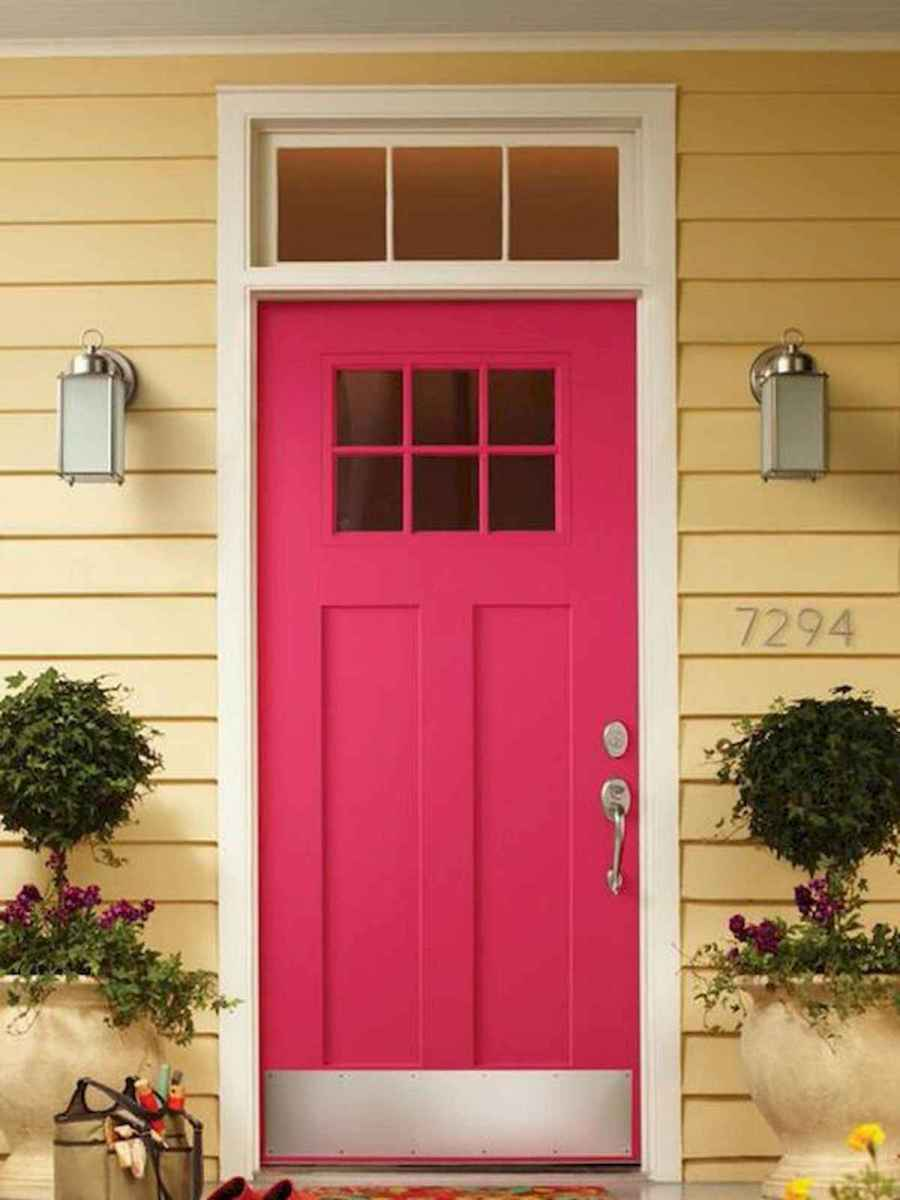 70 Best Modern Farmhouse Front Door Entrance Design Ideas (23)