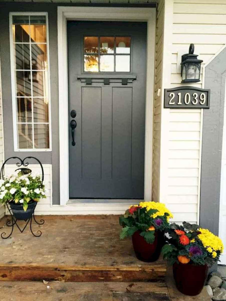 70 Best Modern Farmhouse Front Door Entrance Design Ideas (36)