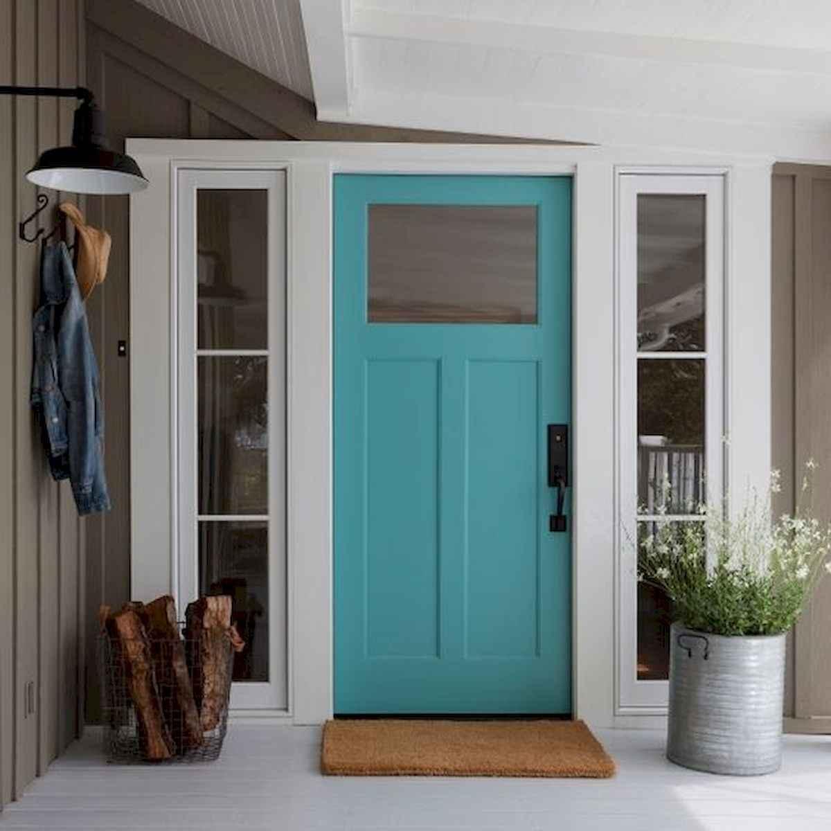 70 Best Modern Farmhouse Front Door Entrance Design Ideas (8)