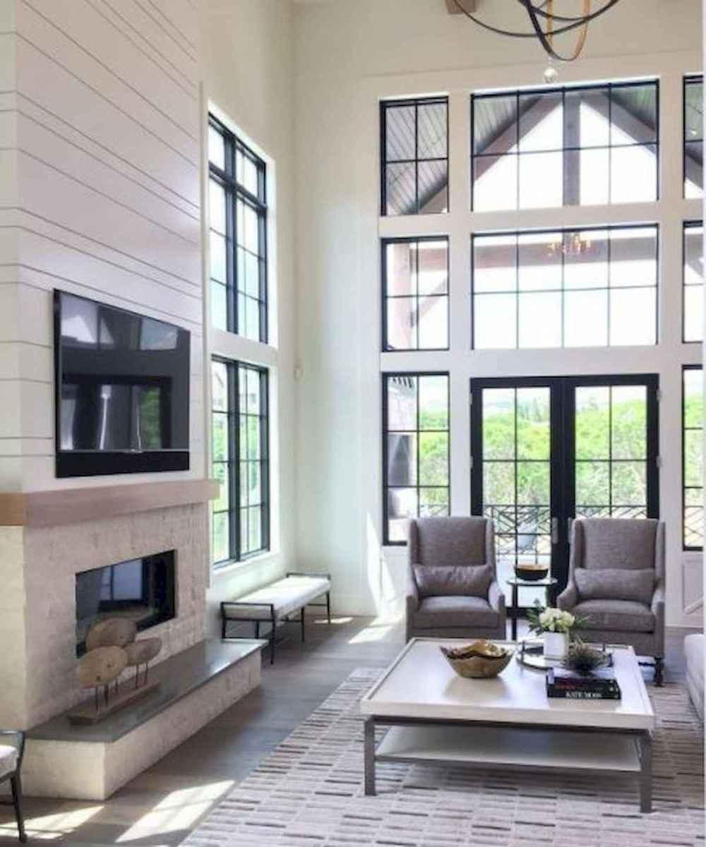 70 Elegant Modern Farmhouse Living Room Decor Ideas And Makeover (1)
