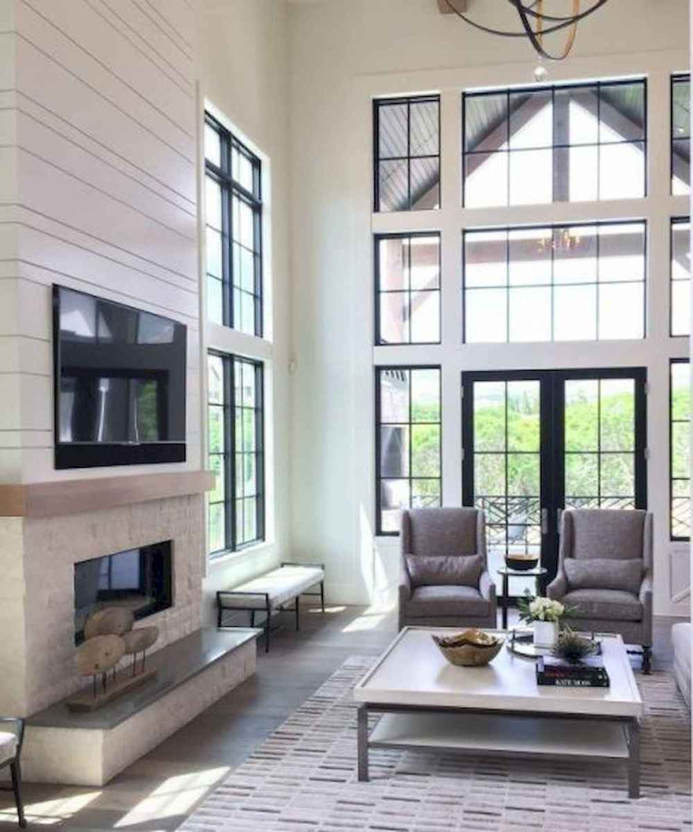 70 Elegant Modern Farmhouse Living Room Decor Ideas And Makeover (1)