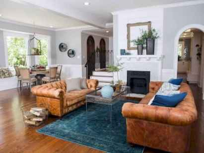 70 Elegant Modern Farmhouse Living Room Decor Ideas And Makeover (16)