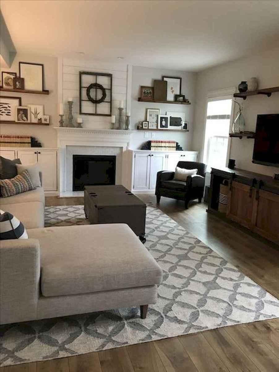 70 Elegant Modern Farmhouse Living Room Decor Ideas And Makeover (19)