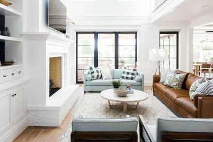 70 Elegant Modern Farmhouse Living Room Decor Ideas And Makeover (28)