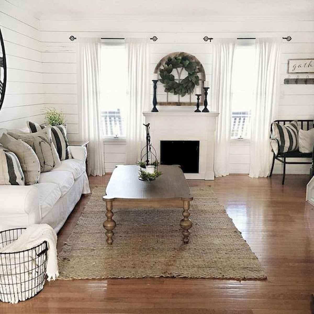 70 Elegant Modern Farmhouse Living Room Decor Ideas And Makeover (33)
