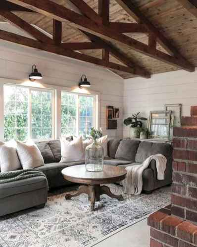 70 Elegant Modern Farmhouse Living Room Decor Ideas And Makeover (35)