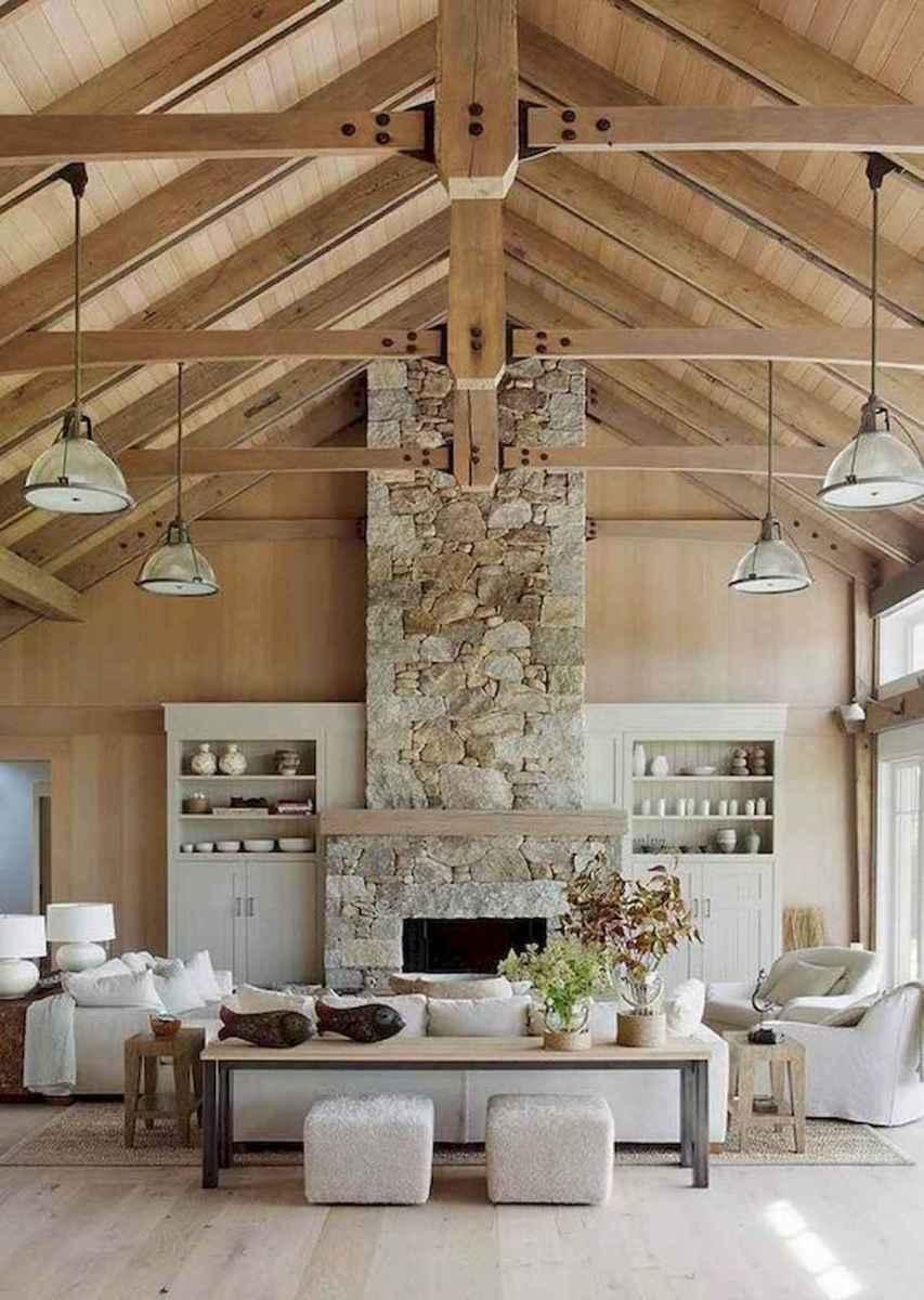 70 Elegant Modern Farmhouse Living Room Decor Ideas And Makeover (44)