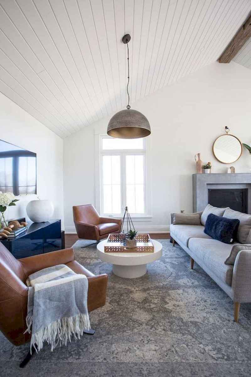 70 Elegant Modern Farmhouse Living Room Decor Ideas And Makeover (52)