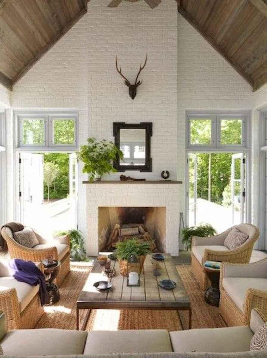 70 Elegant Modern Farmhouse Living Room Decor Ideas And Makeover (55)
