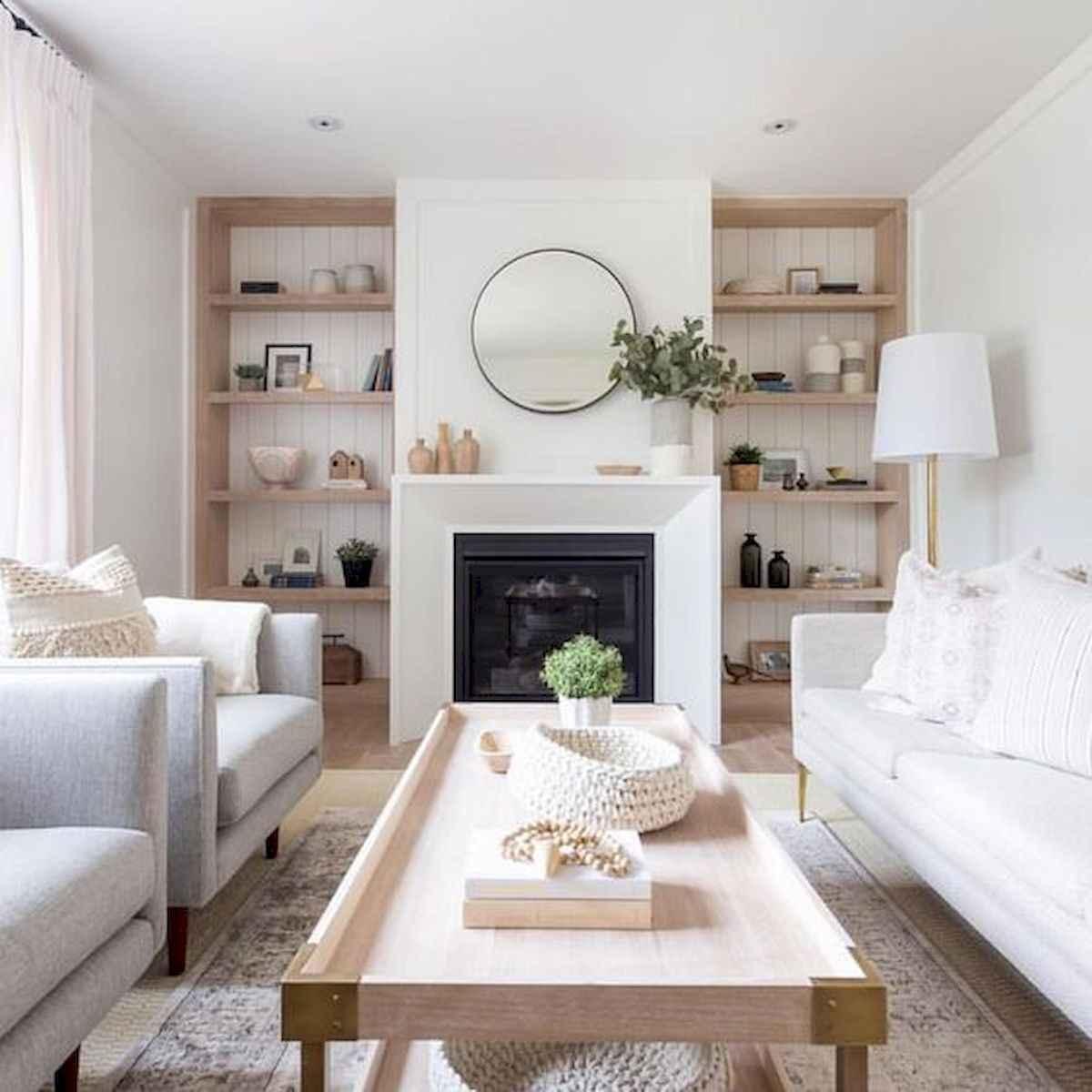 70 Elegant Modern Farmhouse Living Room Decor Ideas And Makeover (68)