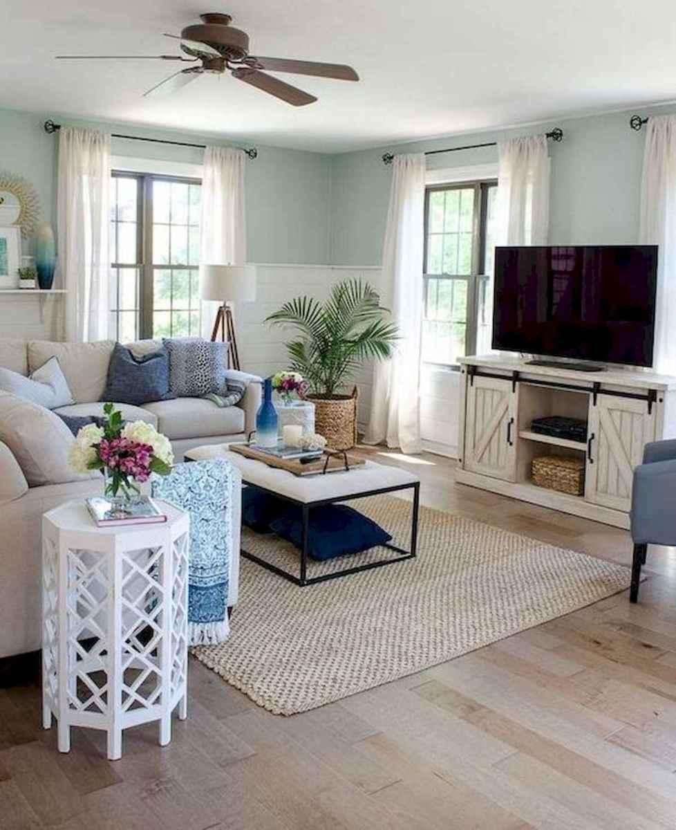 70 Elegant Modern Farmhouse Living Room Decor Ideas And Makeover (7)