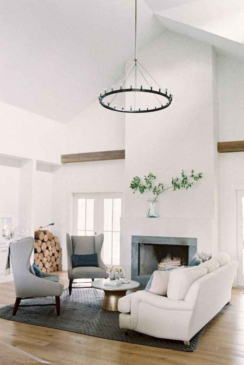 70 Elegant Modern Farmhouse Living Room Decor Ideas And Makeover (70)