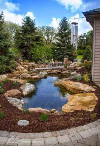 25 Stunning Backyard Ponds Ideas With Waterfalls (21)