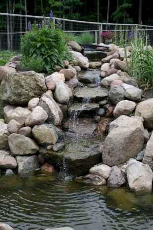 25 Stunning Backyard Ponds Ideas With Waterfalls (22)