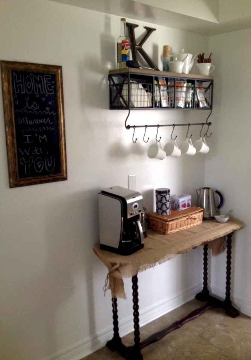 32 Awesome DIY Mini Coffee Bar Design Ideas For Your Home (26)