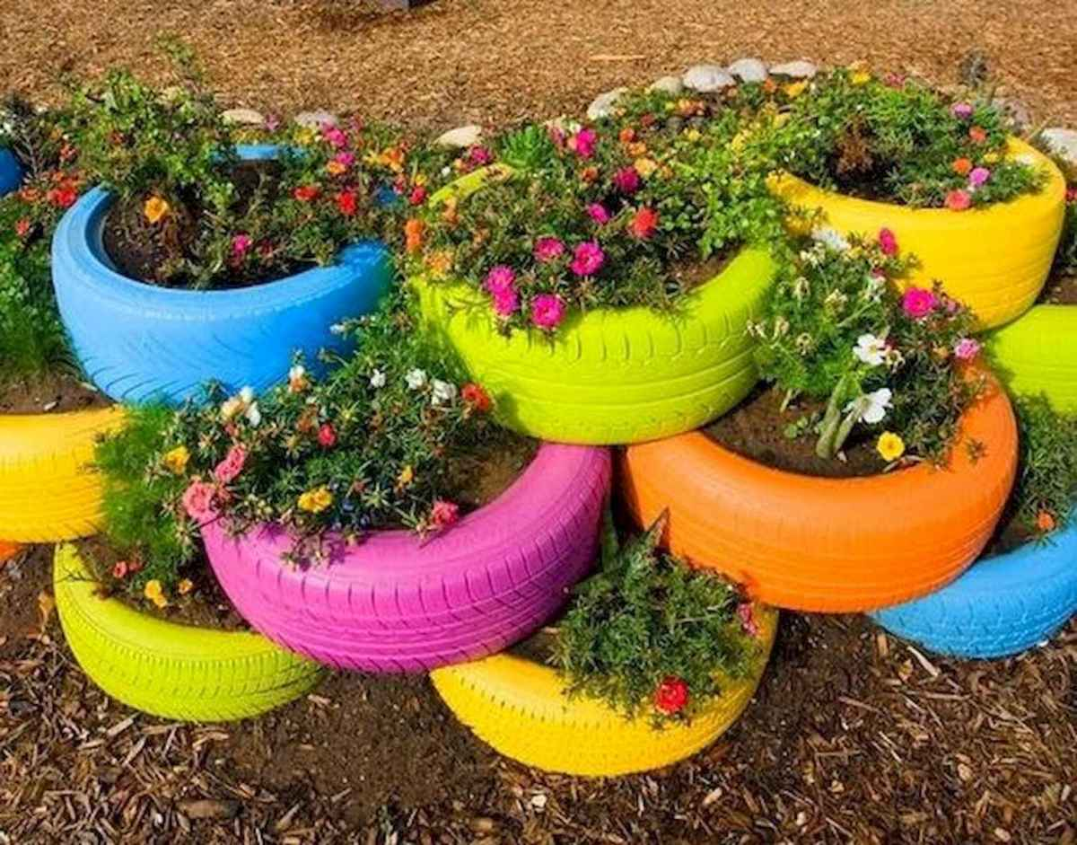 33 Awesome DIY Painted Garden Decoration Ideas for a Colorful Yard (12)