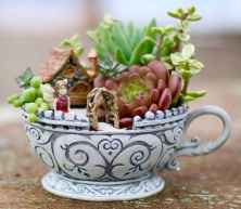 40 Easy DIY Teacup Mini Garden Ideas to Add Bliss to Your Home (30)