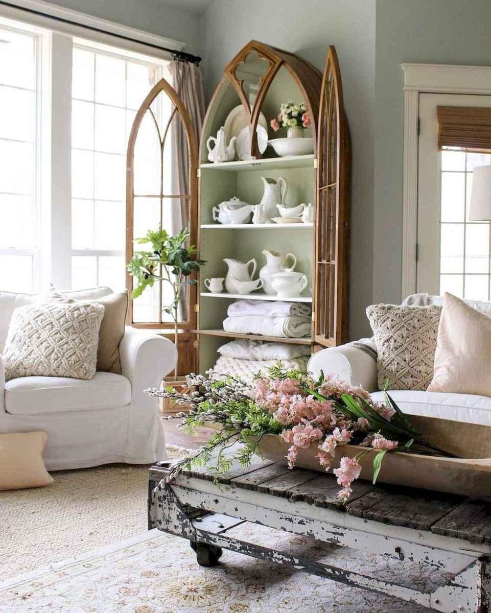 50 Rustic Farmhouse Living Room Decor Ideas (19)