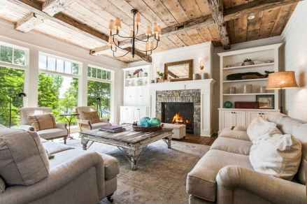 50 Rustic Farmhouse Living Room Decor Ideas (30)