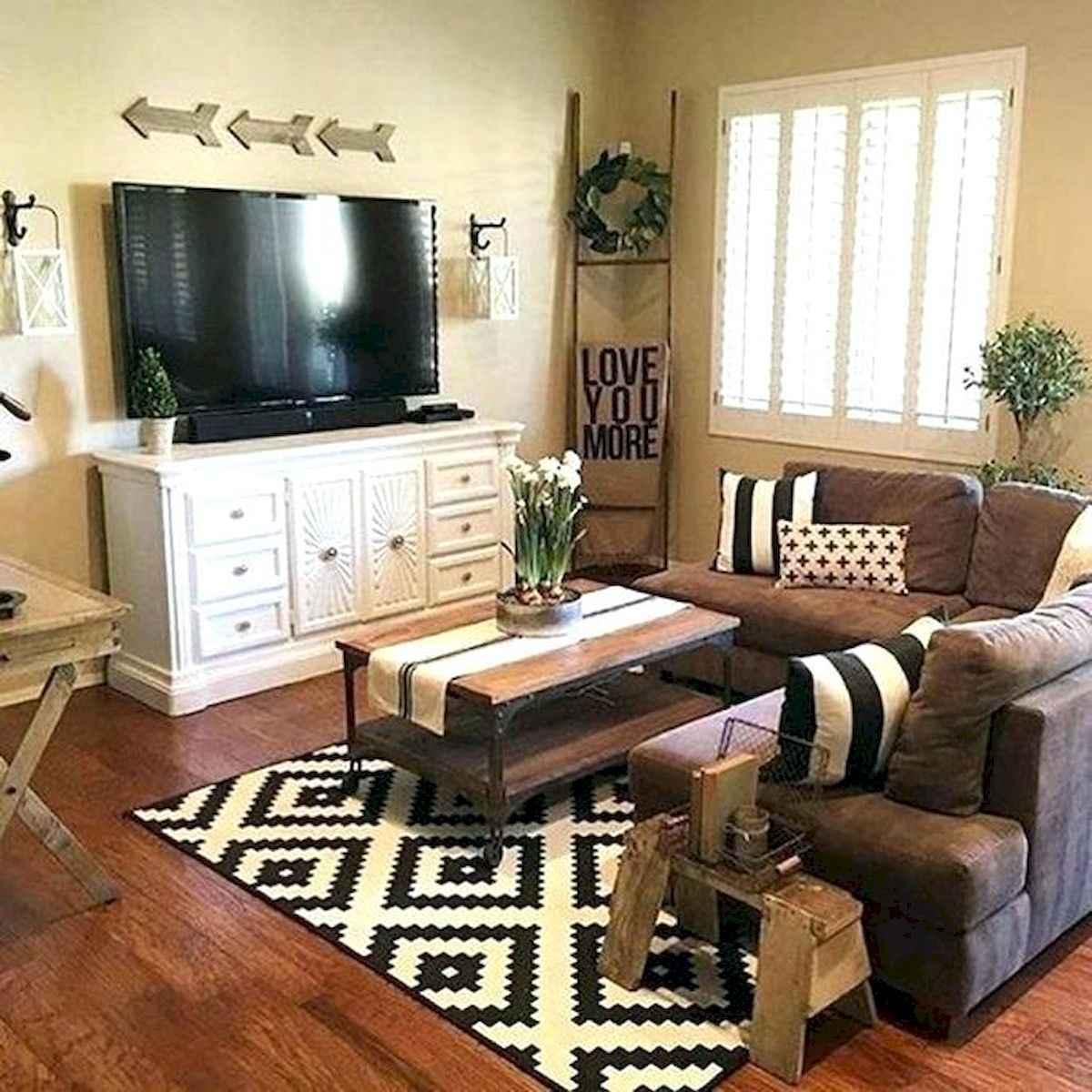 50 Rustic Farmhouse Living Room Decor Ideas (40)