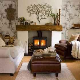 50 Rustic Farmhouse Living Room Decor Ideas (44)
